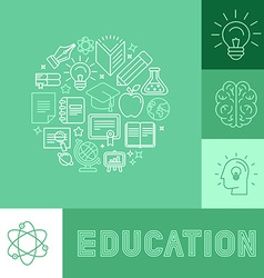 education concepts vector image vector image
