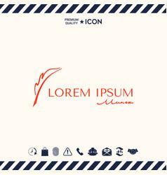 Elegant logo with fountain pen vector