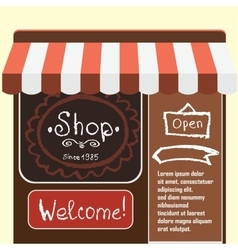 Flat modern small shop and vector