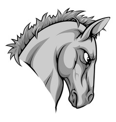 horse mascot character vector image vector image