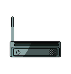 Isolated wireless router vector