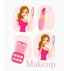 Make-up girl vector