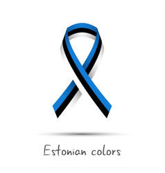 Modern colored ribbon with the estonian tricolor vector