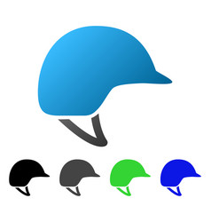 motorcycle helmet flat gradient icon vector image vector image