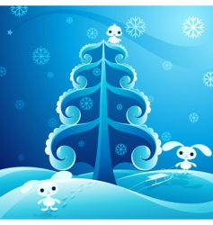 pretty winter vector image vector image