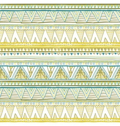 Seamless patterns with white black gold zigzag vector image vector image