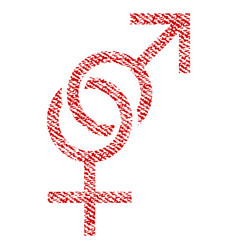 Sex symbol fabric textured icon vector