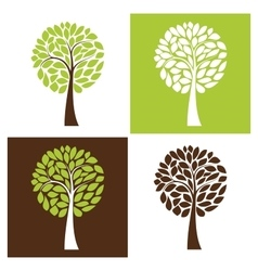 Simple tree set vector image vector image