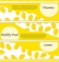 sweet juicy whole and slice lemon vector image