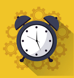 time clock alarm work team icon vector image vector image