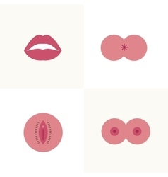 types of sex icons vector image vector image