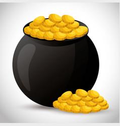 Vase of treasure icon vector