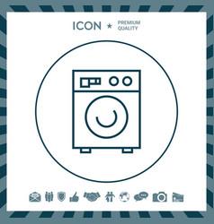 Washing machine linear icon vector