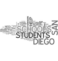 what will help the san diego schools text word vector image