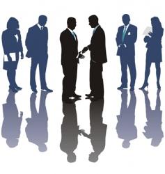 International business deal vector