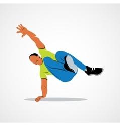Parkour jump silhouette vector