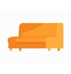 Luxury leather sofa for modern room reception vector