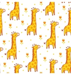 seamless with giraffes vector image
