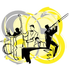 Musicians play classical music vector
