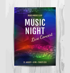 club music concert poster vector image