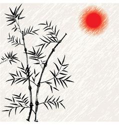 Bamboo japanese asian vector