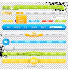 Web Menu Element Templates vector image