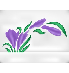 Abstract iris with banner vector