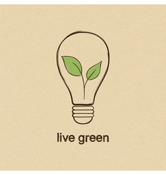 Live green vector image
