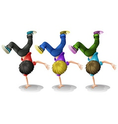 Boys Up side down vector image