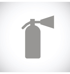 Fire extinguisher black icon vector