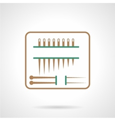 Flat line icon for sewing needles vector