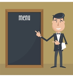 Waiter menu vector