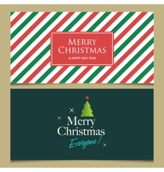 christmas cards set 1 vector image