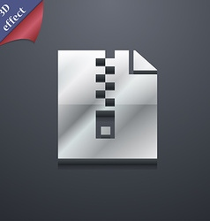 Computer zip folder archive icon symbol 3d style vector