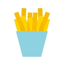 French fries isolated icon design vector