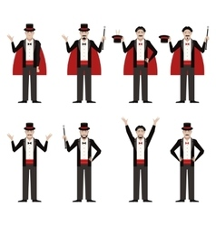 Set of Magicians vector image