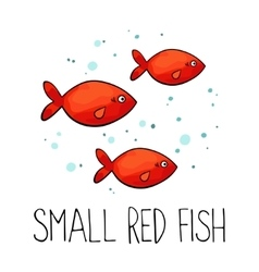 Small red fish made in vector