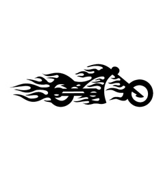 Motorcycle flame vector