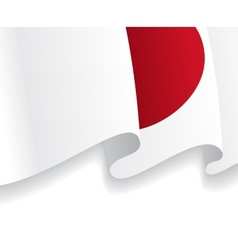 Background with waving japanese flag vector