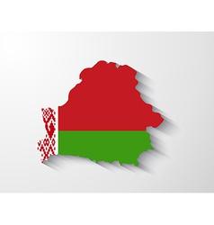 Belarus map with shadow effect vector image