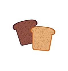 Bread design flat isolated white vector