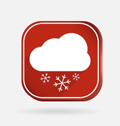 cloud snow Color square icon vector image