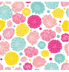 Colorful spring flowers seamless repeat vector