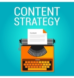 content strategy seo marketing blog search engine vector image
