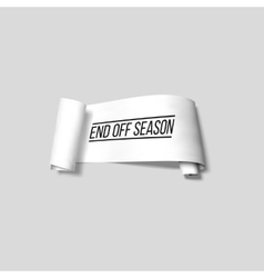 End off season sale sign paper banner vector image vector image