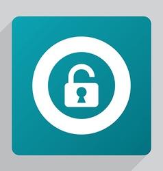 flat unlock icon vector image vector image