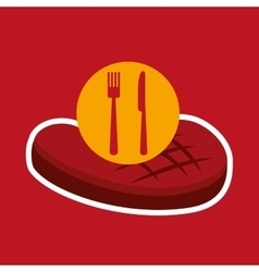 Grill fast food concept beef steak vector