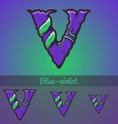 Halloween decorative alphabet - v letter vector
