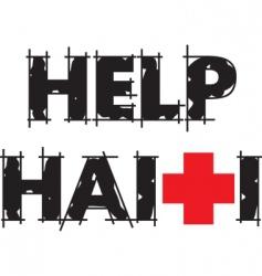 help Haiti text vector image