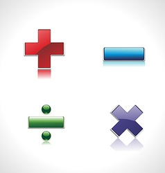 Mathematics button vector image vector image